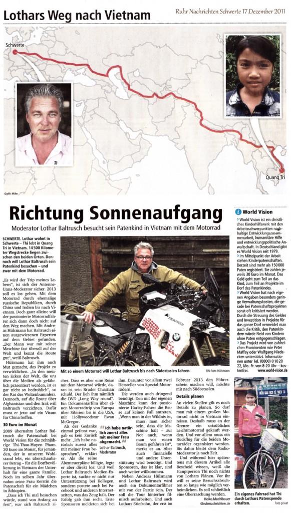 Ruhrnachrichten: Richtung Sonnenaufgang