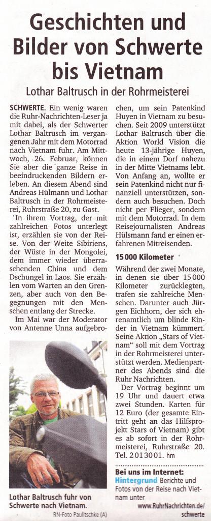 Ruhr Nachrichten 18. Januar 2014